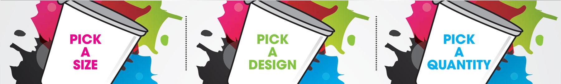 PrintMyCup.com | Pick size | Pick design | Pick quantity