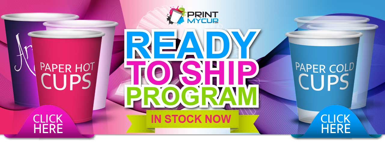 Ready to ship program | Paper hot cups | Paper cold cups